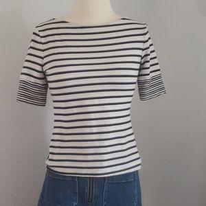 A thro striped crossback shirt